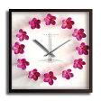 【掛時計】Plumeria Clock Pink(プルメリアクロック/ピンク)【送料無料】/インテリア 壁掛け 額入り 油絵 ポスター アート 海 ひまわり アートパネル リビング 玄関 プレゼント 花 ラッセン ハワイ モダン アートフレーム おしゃれ532P17Sep16