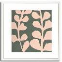 【アートフレーム】Maidenhair Shell Pink【送料無料】/インテリア 壁掛け 額入り 油絵 ポスター アート アートパネル リビング 玄関 プレゼント モダン アートフレーム おしゃれ【L】
