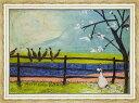 絵画 サム トフト ドリスと鳥たち/インテリア 壁掛け 額入り 油絵 ポスター アート アートパネル リビング 玄関 プレゼント モダン アートフレーム おしゃれ 飾る 3Lサイズ