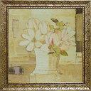 ショッピングチョコ 【絵画】ガブリエラ イバラ「マグノリア リフレッシュ」/額入り絵画・壁掛けアートは、リビングや玄関におすすめのインテリア。かわいい壁飾りはお部屋を癒やしてくれそう。バレンタイン チョコの代わりのプレゼントにも。【送料無料】 アートフレーム おしゃれ【L】