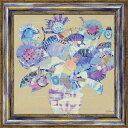 ショッピングチョコ 【絵画】M. J. ベスウィック「ボタニカル ブルー」/額入り絵画・壁掛けアートは、リビングや玄関におすすめのインテリア。かわいい壁飾りはお部屋を癒やしてくれそう。バレンタイン チョコの代わりのプレゼントにも。【送料無料】 アートフレーム おしゃれ【L】