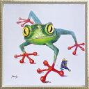 油絵 オイル ペイント アート「クロール フロッグ(Mサイズ...