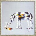 油絵 オイル ペイント アート「ドッグ ペインティング(Mサ...