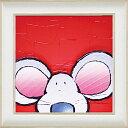 ショッピングマウス 【絵画】ポール「マウス」/インテリア 壁掛け 額入り 油絵 ポスター アート アートパネル リビング 玄関 プレゼント モダン アートフレーム おしゃれ【M】