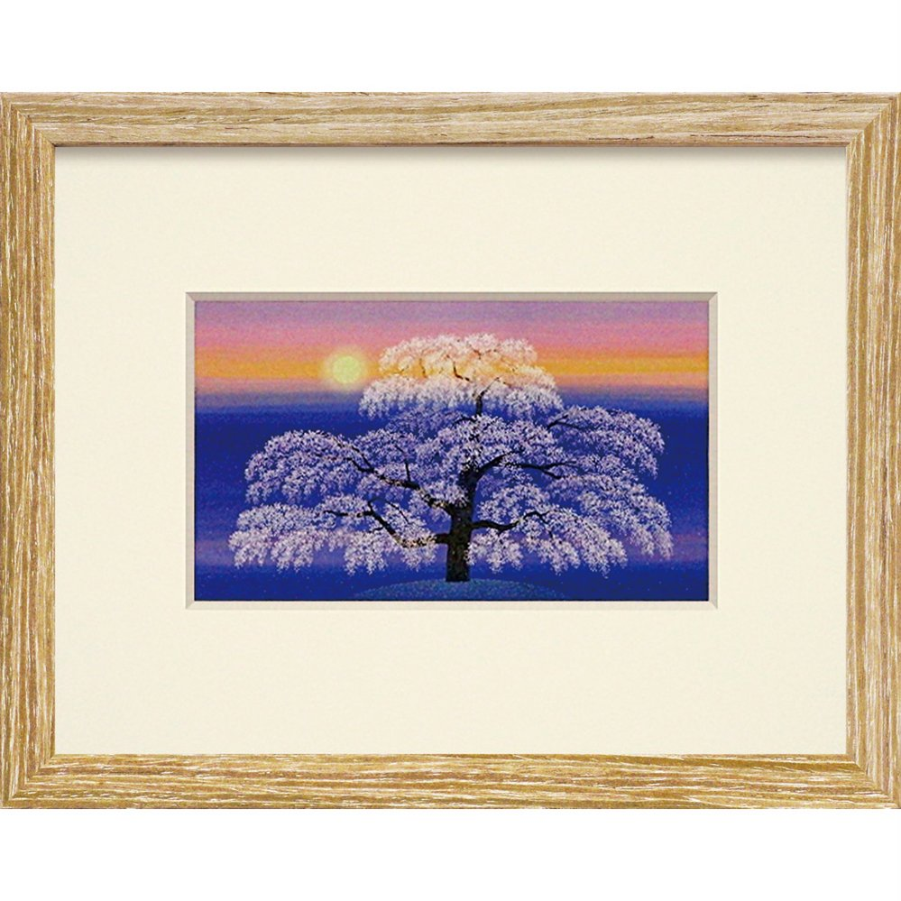 絵画照沼光治「爛漫」ゆうパケット/インテリア壁掛け額入りポスターアート景色日本画アートパネルリビング