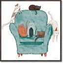 絵画 ベッキー ソーンズ「プレイフル キャット1」 壁掛け 額入り かわいい 猫の絵 おしゃれ アートフレーム インテリア リビング 玄関 トイレ 部屋に飾る 絵 癒し 御祝 ギフト プレゼント 贈り物 なごむ 動物 Sサイズ