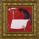 絵画 ドミンゲス 浴槽/インテリア 壁掛け 額入り 油絵 ポスター アート アートパネル リビング 玄関 プレゼント モダン アートフレーム おしゃれ 飾る Sサイズ