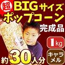 キャラメルポップコーン 1kg 約30〜35人分[イベント バザーで大人気!業務用 メーカー直送 機械 レンタル不要。縁日 景品 子供 子供…