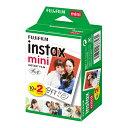 富士フイルム インスタントカラーフィルム instax mini 10枚入り×2パック/INSTAX MINI JP 2