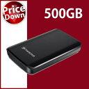 Transcend【トランセンド】 ポータブルハードディスク 500GB StoreJet 25D2 ブラック /TS500GSJ25D2【USB2.0対応】【送料無料】