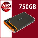 Transcend【トランセンド】 ポータブルハードディスク 750GB StoreJet 25M2 ブラック /TS750GSJ25M2【USB2.0対応】