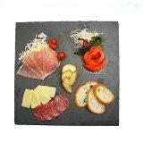 チーズや生ハム、野菜などのプレートに。高級感のあるテーブル作りに。NOUVEL【ヌベール】 スレート square 30×30cm