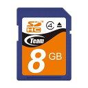 Team【チーム】SDHCカード 8GB class4/TG008G0SD24X【JAN 4580209531452】