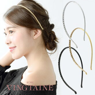 ラインストーンカチューシャ / Bijou / wedding / party / party head axe fascinators / hair accessories HK-6
