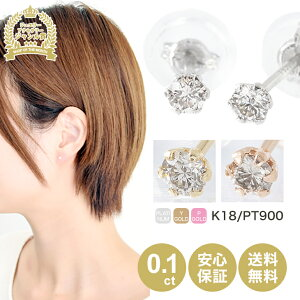 天然ダイヤモンド ピアス 0.1ct 一粒 プラチナ PT900