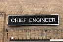 ショッピングワッペン クルーワッペン CHIEF ENGINEER 機関長