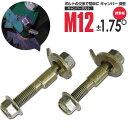 キャンバーボルト ダイハツ ハイゼットカーゴ S320 フロント M12 アルマイト処理 2本セット【送料無料】