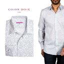 ショッピングセレブ 柄シャツ メンズ 長袖 カジュアルシャツ ドレスシャツ パーティー プリント 化学式 アート セレブファッション ブランド CotonDoux コトンドゥ m92ad1788chemical