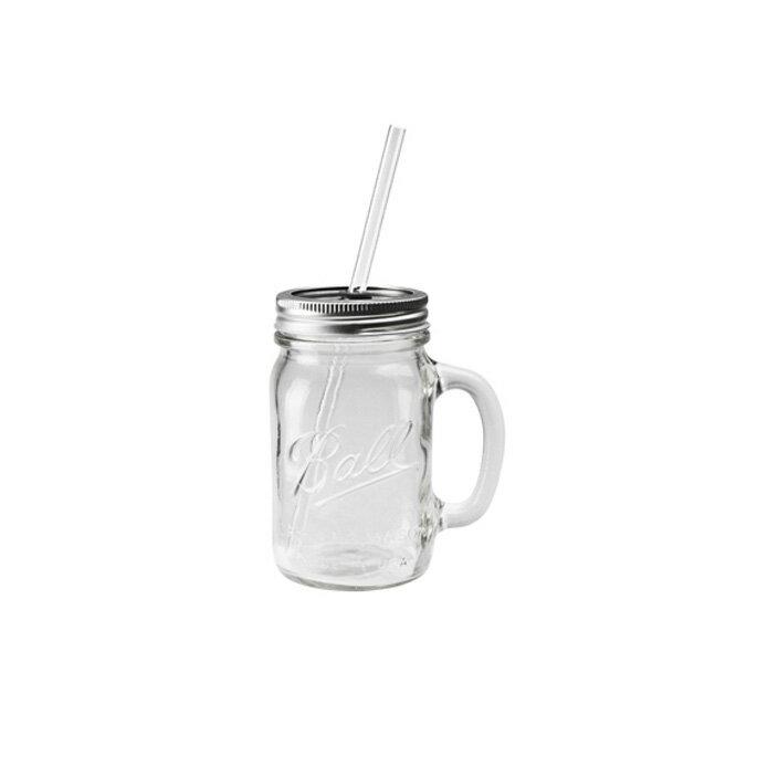 【Ball メイソンジャー】Rednek Handled Glass Mug 16oz(レッドネックハンドルグラスマグ 16オンス) 298816 /ボール Mason jar アメリカ Ball社 正規品 ガラス 保存ビン ドリンクボトル