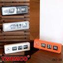 トゥエンコ TWEMCO クロック CLOCK BQ-38 置き時計 幅43cm ウォールクロック パタパタクロック テーブルクロック 時計 クロック おき時計 ドイツ製ムーブメント 単2乾電池1本 イギリス ビンテージ カレンダー レトロ 北欧 モダン カジュアル