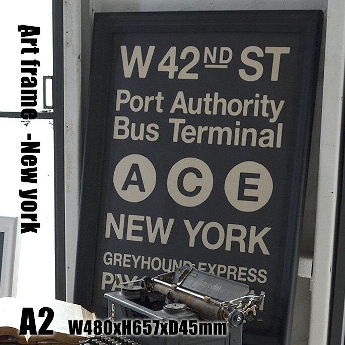 Art Frame New york(アートフレーム ニューヨーク) A2 size 黒フレーム TR-4198(NY) ARTWORKSTUDIO(アートワークスタジオ) 送料無料 デザインインテリア ArtFrameNewyork アートフレームニューヨーク TR-4198(NY) アートワークスタジオ ARTWORKSTUDIO おしゃれなサインポスター レトロビンテージアート