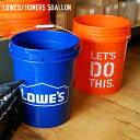 ホーム デポ ロウズ HOME DEPOT LOWES ロウズ/ホーマーズ 5ガロン (LOWES/HOMERS 5gallon) バケツ from U.S.A 18L バケツ ゴミ箱 収納ボックス プランター 大型 ブルー オレンジ アメリカンレトロ ビンテージ 西海岸 DIY おしゃれ