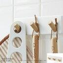 トスカ マグネットキッチンツールフック3連 ホワイト(tosca wall kitchen tool hook white) 03194 ヤマザキ(YAMAZAKI)