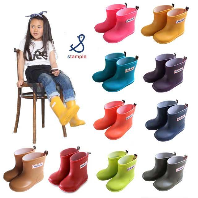 stample/スタンプル/長靴/レインブーツ/雪/キッズ/レインシューズ【全9色!】【日…...:b-dash-baby:10002747