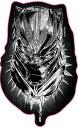 Marvel(マーベル) Black Panther(ブラックパンサー) ダイカットステッカーB インロック