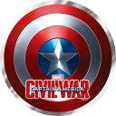 Marvel(マーベル) Captain America CIVIL WAR(キャプテン・アメリカ:シビル・ウォー) メタリックダイカットステッカー (シールド) 【あす楽対応】【あす楽_土曜営業】【あす楽_日曜営業】