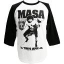 MASA(マサ斎藤)七分袖ラグラン Tシャツ Hardcore Chocolate/ハードコアチョコレート