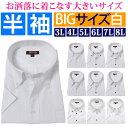 半袖 Yシャツ 大きいサイズ 半袖 ワイシャツ 半袖 3l 4l 5l 6l 7l 8l カッターシャツ 大きい 白 ボタンダウン ワイド レギュラー ビジネス...