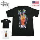 ステューシー TシャツSTUSSY PEACE SIGN S/S TEE 半袖Tシャツ Tシャツ ■品番 1904662