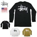 ステューシー ロンT ベーシックロゴ ロングTシャツ 長袖Tシャツ STUSSY BASIC STUSSY L/S TEE ストックロゴ■品番 1994649