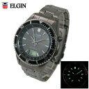 送料無料 エルジン/ELGIN アナデジ チタン電波ソーラー腕時計 FK1396TI-BP