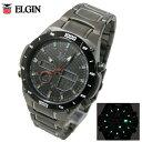 送料無料 エルジン ELGIN 世界38都市対応ワールドタイム 電波ソーラー メンズ チタン 腕時計 FK1397TI-BP