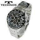 【送料無料】TECHNOS/テクノス クロノグラフ クオーツ メンズ 腕時計 TSM401TB