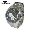 【送料無料】TECHNOS/テクノス クロノグラフ クオーツ メンズ 腕時計 T6590GN