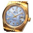 エルジン ELGIN 自動巻き 腕時計 ゴールドIPメッキ 天然貝パール文字盤 FK1428G-CL
