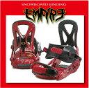 スノーボード ビンディング EMPIRE 05 - Red Black