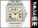 ☆B楽市本店☆本物 カルティエ Cartier サントスドゥモアゼル SM レディース クォーツ 腕時計 白文字盤 【時計】【中古】【磨き済み】