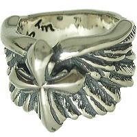 ウィングw2005クロス シルバーリング(指輪)*BWL(ビルウォールレザー)