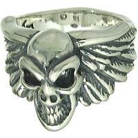 ウィングwグッドラックスカル シルバーリング(指輪)*BWL(ビルウォールレザー)Good Luck Skull