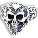 ショッピング正規 BWL(ビルウォールレザー) ハートグラフティスモールグッドラックスカル シルバーリング(指輪)Good Luck Skull