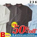 【長袖ハイネックシャツ】T/C鹿の子を使用した高品質なニットシャツ hs236【メール便】で送料無料