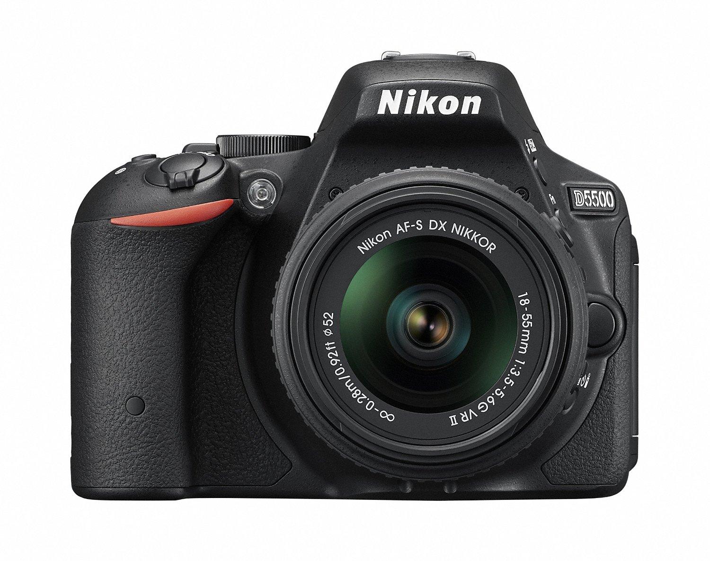 Nikon デジタル一眼レフカメラ D5500 18-55 VRII レンズキット ブラック 2416万画素 3.2型液晶 タッチパネ