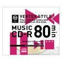VERTEX CD-R(Audio) 80分 1P インクジェットプリンタ対応(ホワイト) 1CDRA80VX.WP