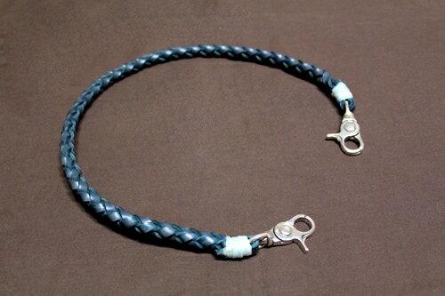 コードバン よつあみウォレットロープ(シルバーナスカン標準装備) 本藍染め 【レザー/ロープ】