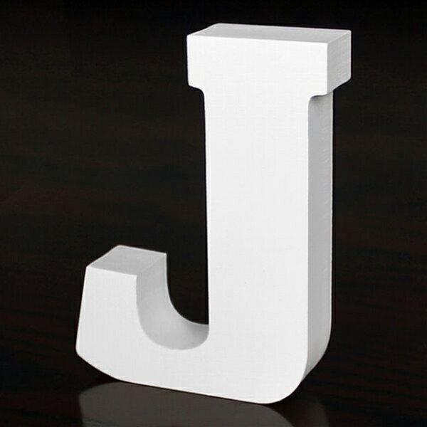 ホワイトウッドレター J 高さ10cm