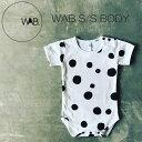 WAB SSBODY 赤ちゃん ロンパース モノトーン おしゃれ 出産祝い 半袖 BODYSUIT ボディースーツ ベビー 3-6M